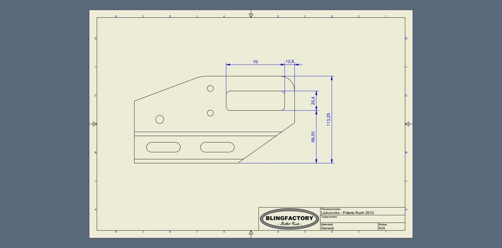Runner Extensions Polaris Rush 20cm Bend Blingfactory